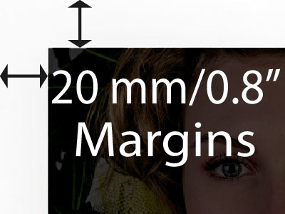 20mm margin