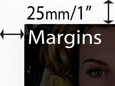 25mm margin