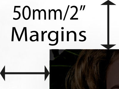 50mm margin