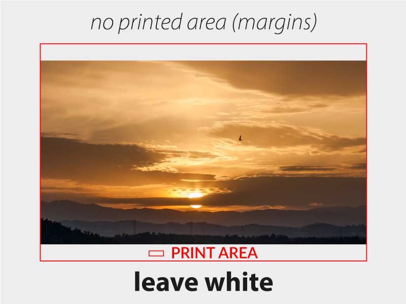 Leave white