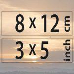 8x12cm – (3×5″)