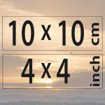 10x10cm – (4×4″)