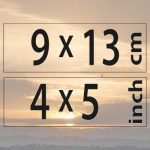 9x13cm – (4×5″)
