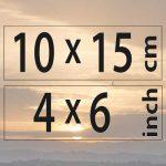 10x15cm – (4×6″)