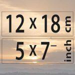 12x18cm – (5×7″)