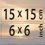 15x15cm – (6×6″)
