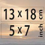 13x18cm – (5×7″)