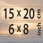 15x20cm – (6×8″)