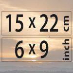 15x22cm – (6×9″)