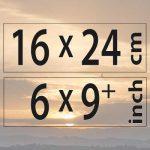 16x24cm – (6×9″)