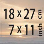 18x27cm – (7×11″)