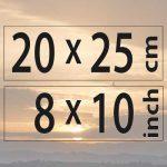 20x25cm – (8×10″)