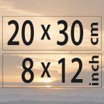 20x30cm – (8×12″)