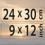 24x30cm – (9×12″)