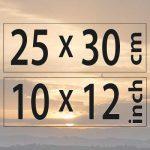 25x30cm – (10×12″)