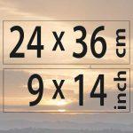 24x36cm – (9×14″)