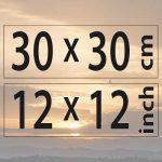 30x30cm – (12×12″)