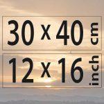 30x40cm – (12×16″)