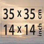 35x35cm – (14×14″)