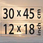 30x45cm – (12×18″)