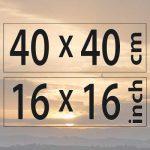 40x40cm – (16×16″)