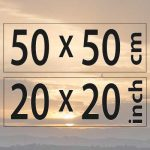 50x50cm – (20×20″)